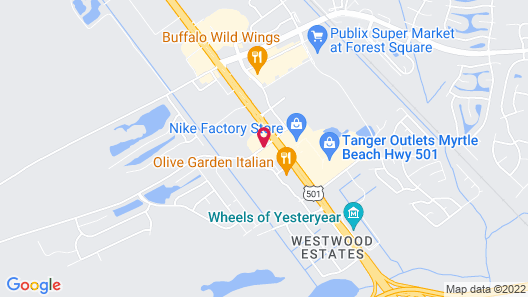 Hampton Inn Myrtle Beach West Map