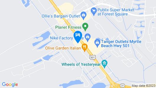 Hampton Inn Myrtle Beach West Map