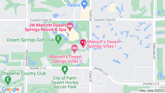 Marriott's Desert Springs Villas I Map