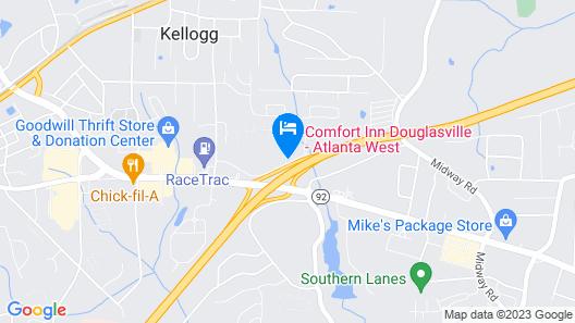 Comfort Inn Douglasville Map
