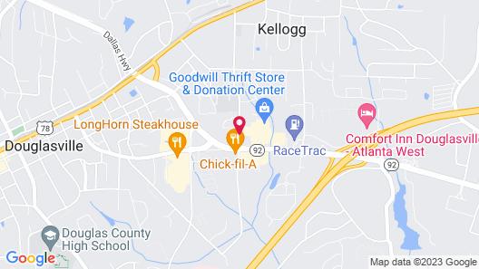 Royal Inn Douglasville Map