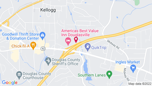 Days Inn by Wyndham Douglasville-Atlanta-Fairburn Road Map