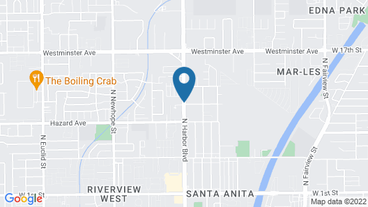 Budget Inn Santa Ana Map
