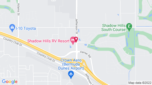 Shadow Hills RV Resort Map