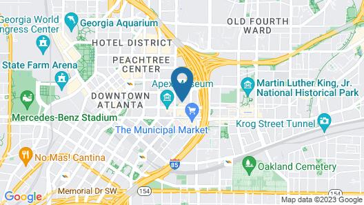 Kasa Atlanta Downtown Apartments Map