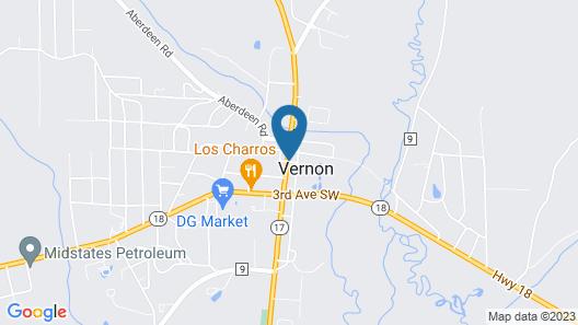 Vernon Inn Motel Map