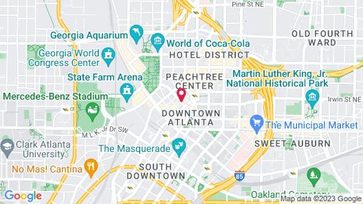 Barclay Hotel Atlanta Downtown Map
