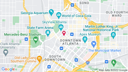 Holiday Inn Express and Suites Atlanta Downtown, an IHG Hotel Map