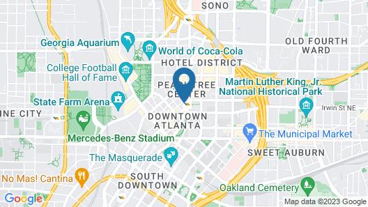 Courtyard by Marriott Atlanta Downtown Map