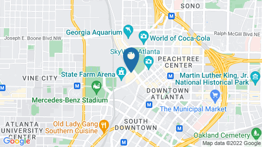 Omni Atlanta Hotel at CNN Center Map