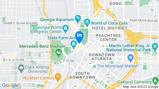 Omni Atlanta Hotel at CNN Center Map