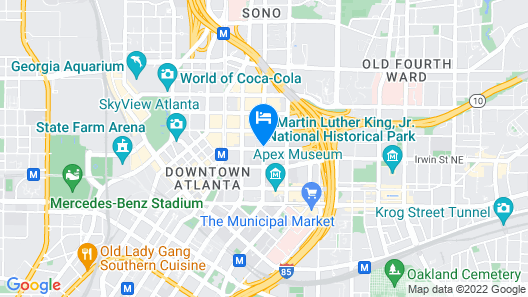 Sheraton Atlanta Hotel Map