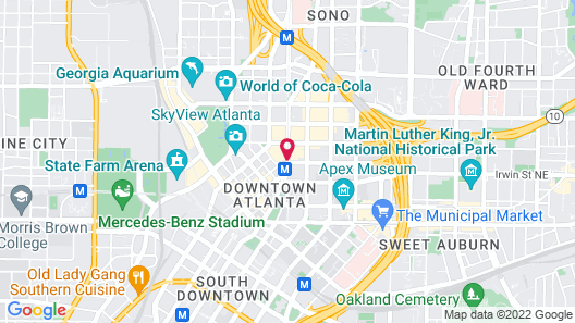 Ellis Hotel, Atlanta, A Tribute Portfolio Hotel by Marriott Map
