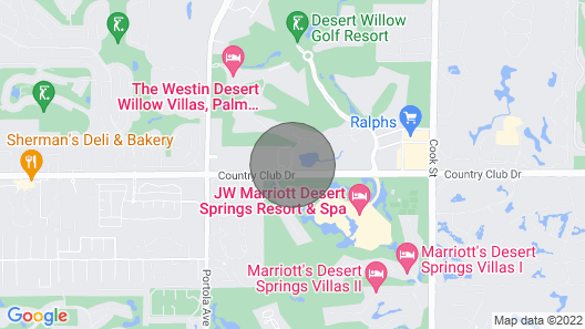 Villa Property Westin Desert Willow Condos Palm Desert Map