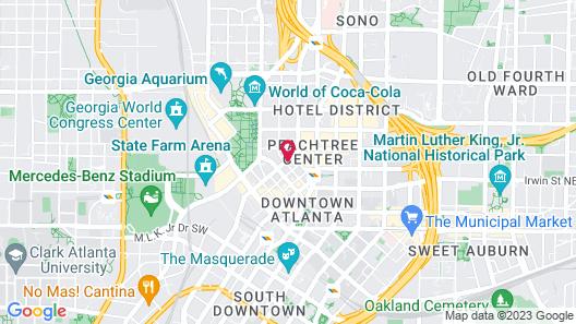 Hampton Inn & Suites Atlanta Downtown Map