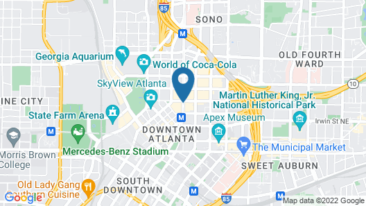 The Westin Peachtree Plaza, Atlanta Map