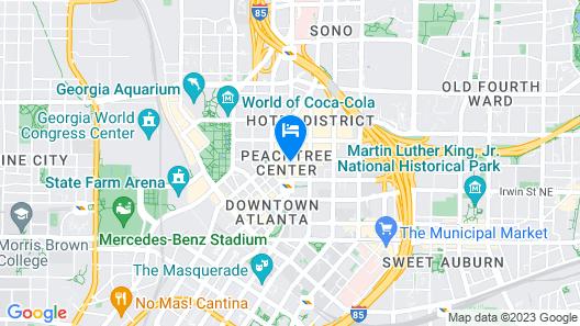 The Westin Peachtree Plaza, Atlanta Map