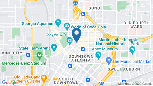 The American Hotel Atlanta Downtown - a DoubleTree by Hilton Map