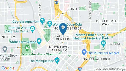 Hotel Indigo Atlanta Downtown, an IHG Hotel Map