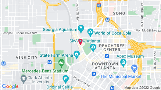 Embassy Suites Atlanta at Centennial Olympic Park Map