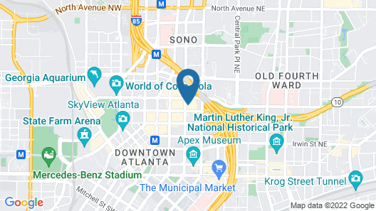 Hilton Atlanta Map