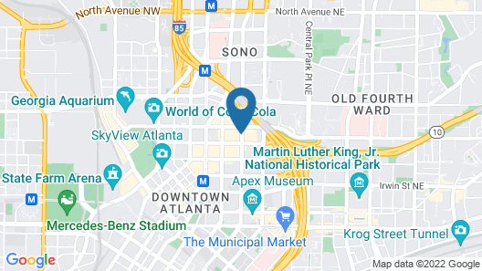 Atlanta Marriott Marquis Map