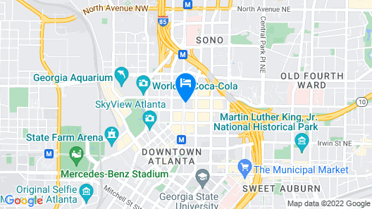 Hyatt Regency Atlanta Downtown Map