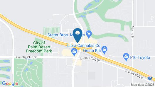 Motel 6 Palm Desert, CA - Palm Springs Area Map