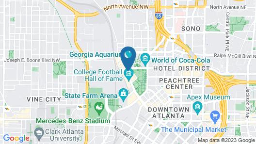 Hilton Garden Inn Atlanta Downtown Map