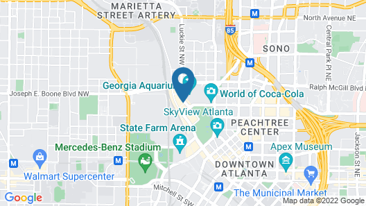 Hyatt Place Atlanta Centennial Park Map