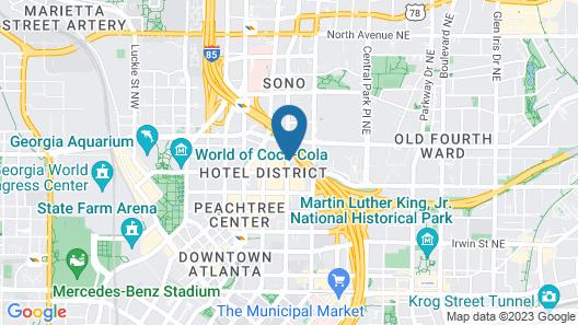 Motel 6 Atlanta, GA - Downtown Map
