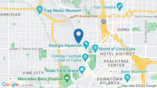 Hyatt House Atlanta Downtown Map