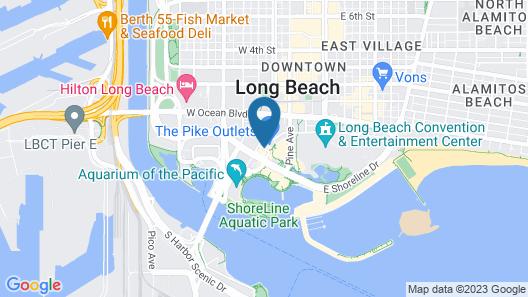 Hyatt Centric The Pike Long Beach Map