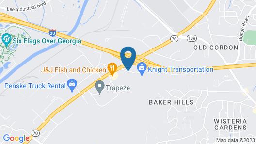 Knights Inn Atlanta Map