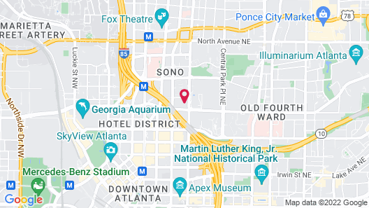 NUOVO - Downtown / Midtown Atlanta Map