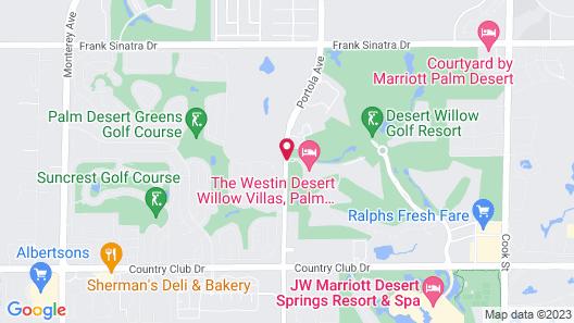 The Westin Desert Willow Villas, Palm Desert Map