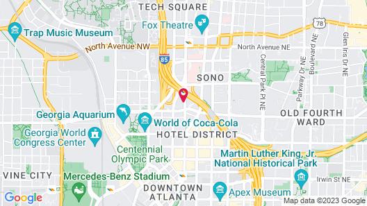 Twelve Downtown, Autograph Collection Map