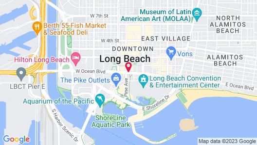 Renaissance Long Beach Hotel Map