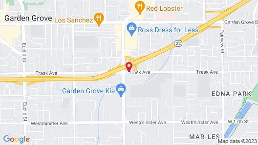 Motel 6 Garden Grove CA Map