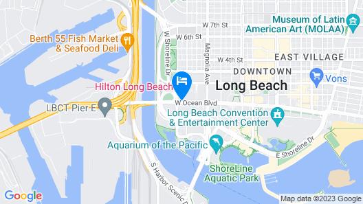 Hilton Long Beach Hotel Map