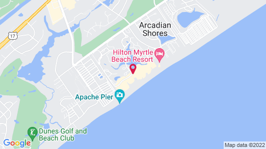 Embassy Suites by Hilton Myrtle Beach Oceanfront Resort Map
