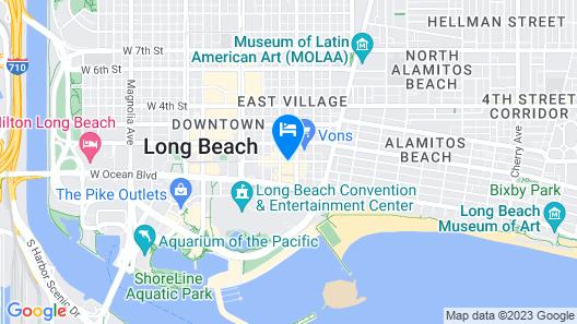 Courtyard by Marriott Long Beach Downtown Map