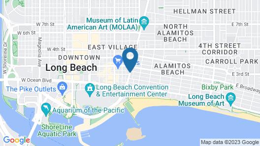 Vagabond Inn Convention Center Long Beach Map