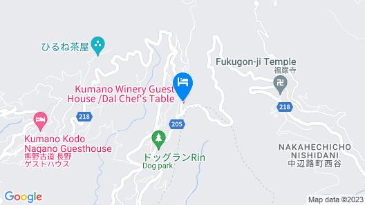 Kumano Kodo Winery Guest House Map