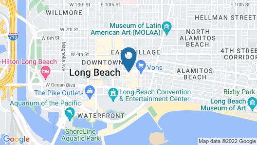 The Historic Broadlind Hotel at Long Beach Convention Center Map