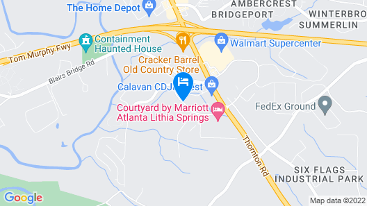 Springhill Suites By Marriott Atlanta Six Flags Map