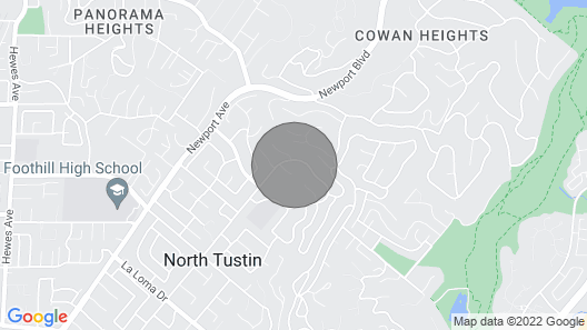 Beautiful Guesthouse Cottage in the Hills of North Tustin Map