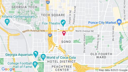 Amazing Atlanta Furnished Apartments Map