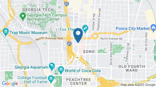 Staybridge Suites Atlanta - Midtown, an IHG Hotel Map