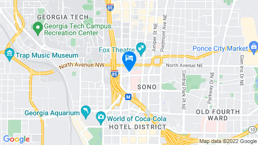 Crowne Plaza Atlanta - Midtown Map